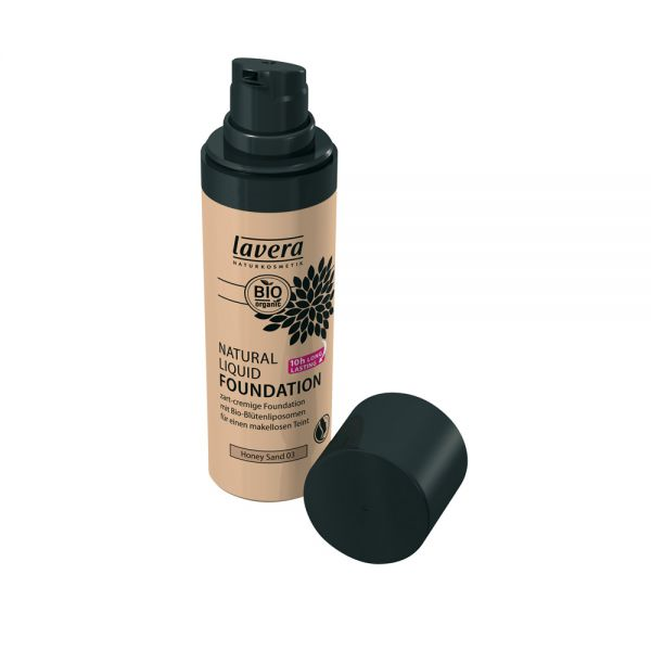 Natural Liquid Foundation Honey Sand 03